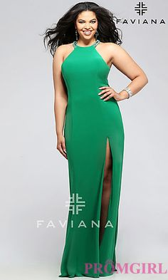 577be51186441 Full-Figure Dresses and Plus-Size Prom Gowns -PromGirl - PromGirl