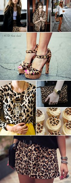 I love anything leopard print - take note, I especially love the oversized safety pin necklace - this is on my to-do list