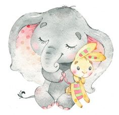 Elephant Canvas, Baby Illustration, Cute Characters, Decoration, Canvas Wall Art, Decoupage, Applique, Cute Animals, Teddy Bear