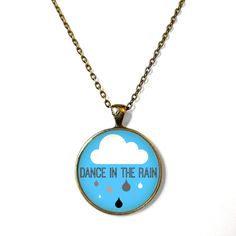 Dance in the rain. Cute Raincloud Necklace - Funny Pop Culture Arrow Jewelry - Motivational and inspirational Jewelry with Small Arrow on Etsy, $15.00