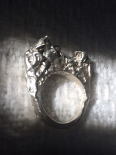 Upcoming Magma collection handmade with Love . Molten silver ring... #jewelry#handcrafted#silver #accesories