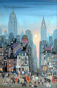Michel Delacroix, Le Cirque arrive à New York, 2000,