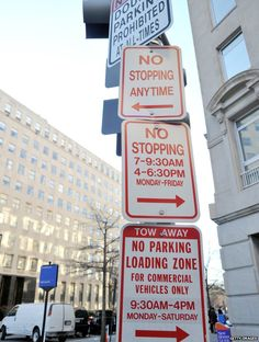 Parking sign in Washington DC. Information overload!