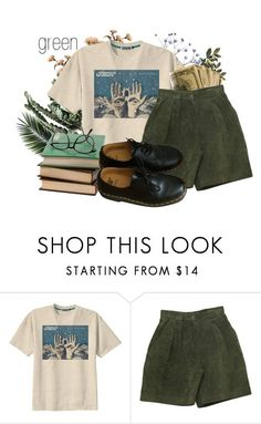 """""""green"""" by tris-maelynn on Polyvore featuring Retrò and Dr. Martens"""