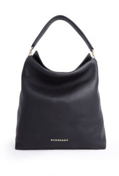 Love this ~ Black Cale Large Leah Hobo By Burberry Brit
