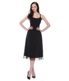 Amelia Black Polka Dot Lace Midi Skirt - get 30% off with code LOVEZURI #BlackFriday #Sale #Discounts