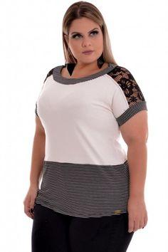 Blusa Plus Size Lace Basic