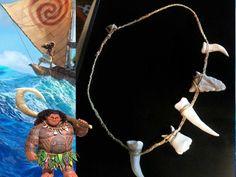 Maui Demigod Bone Necklace - Moana Inspired Maui Necklace Jewelry - Shark Teeth - Costume Jewelry Moana Birthday Party, Pink Birthday, Birthday Cakes, Halloween 2017, Happy Halloween, Halloween Costumes, Moana Party Invitations, Birthday Invitations, Maui Demigod