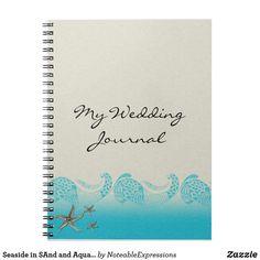 Seaside in SAnd and Aqua Wedding Journal