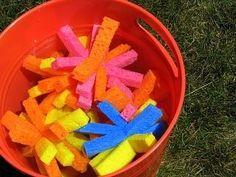 Day 8- Make sponge balls for fun water play outside.