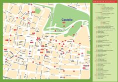 Brindisi tourist attractions map Maps Pinterest Italy and City