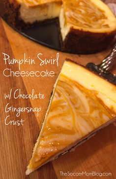 The most amazing cheesecake I've ever tasted -- everything about this recipe says Fall!