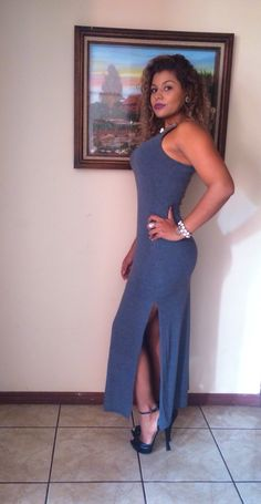 Maxi dress: forever21 Zapatos: Nine West
