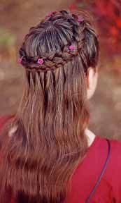 braid wreath.. this would look even nicer and more unique if it included a waterfall braid on the lower part from behind! cool!