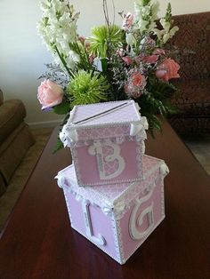 Money Card box for baby shower by TheCarriageShoppe. Esty find.