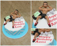 Oh Azmi! You're just so hunky! #fitness #handsome #hunk #ihavesweettooth #figurine #gym #fondant #birthdayforhim