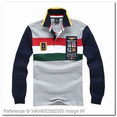 Aeronautica Militare Polo Shirt. P.A.N. Frecce Tricolori. Portale Aviazione. Gray Color. KG203EY. Aeronautica Militare Men's Polo Shirts - Aeronautica Militare Polo Shirts & T-Shirts - trendy.to