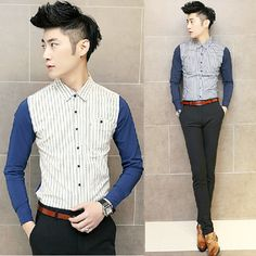 Find More Casual Shirts Information about Newest Hot Sale Stripe Fashion Cool Long sleeve Shirt 2 Colors,High Quality fashion collared shirts,China shirt men fashion Suppliers, Cheap fashion shirt men from Great Store -- Manufactory Supply on Aliexpress.com