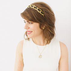 Black and Gold Grecian Headband- SAMPLE SALE STYLE 13. $20.00, via Etsy.