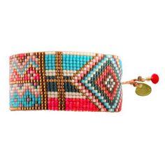Bracelet en perles et fils de la célèbre marque Colombienne Mishky. Création Mishky - Le Bazaristain