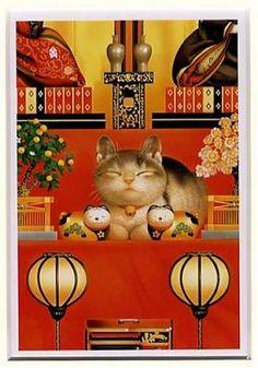 Art, Animal, Cat. Muramatsu Makoto.