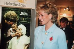 Princess Diana attended the Help the Aged golden awards 6 November 1995.