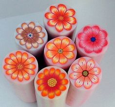 7 polymer clay canes