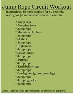 Jump rope circuit workout
