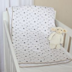 Stars Quilted Cotton Blanket Playmat (natural). Available online at www.babesandkids.co.za Tummy Time, Cotton Blankets, Baby Room, Toddler Bed, Neutral, Furniture, Stars, Home Decor, Child Bed