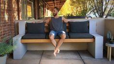 Cinder Block Bench - YouTube