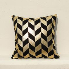 Gold pillow Gold Cushion Cover Geometric Pillow by gridastudio