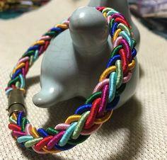 八股辮彩虹手鏈編織教程