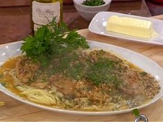 Veal Piccata with Angel Hair and Parmigiana-Reggiano : Recipes : Cooking Channel