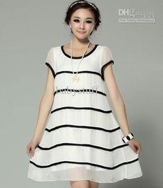 Wholesale Maternity Clothing - Buy Pregnant Wearing Maternity Clothing Silk Dress Chiffon Georgette Short Sleeve Fashion Dress, $16.03 | DHg...