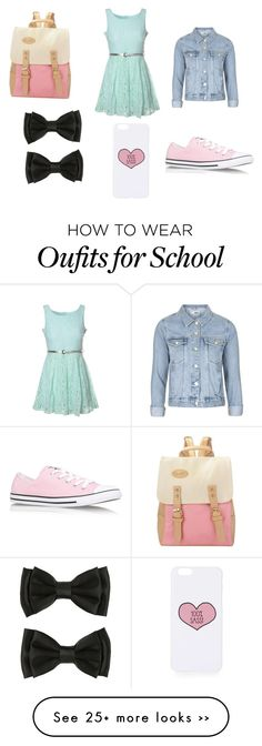 """""""Back to school 2015"""" by amber-de-bleeckere on Polyvore featuring Glamorous, Topshop and Converse"""