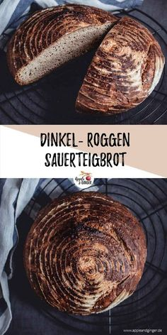 Spelled sourdough bread with rye- Dinkel-Sauerteigbrot mit Roggen There is nothing better than the smell of fresh … - Spelt Sourdough Bread, Paleo Bread, Bread Recipes, Rye Bread, Yeast Bread, Vegan Baking, Bread Baking, Pain Au Levain, Homemade Rolls