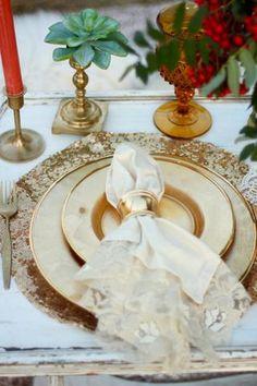Gold Sequin Placemat, Silver Sequin Placemat
