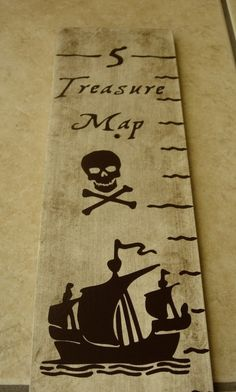 Pirate Growth Chart, Treasure, Map, Skull, Ship, Brown, Cream, Growth Charts by LaffyDaffy on Etsy. $45.99, via Etsy.
