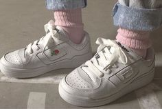Your new go-to trainers. The Norma's. Low-top leather sneakers, padding throughout with embroidered rose detailing, branding on tongue and back of sole. 100%