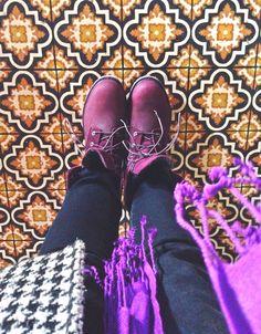 purple timberland boots | style |  @honey bee