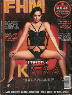 British actress Kara Tointon is the girl on the dance floor photographed for the men's magazine FHM UK for the month of December K. Hannah Tointon, British Magazines, Jessica Lowndes, How To Get Abs, Jack Nicholson, British Actresses, Robert Downey Jr, Covergirl, Ronaldo
