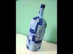 Resultado de imagem para garrafas decoradas com tecidos