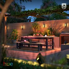 Install outdoor lights that connect to the Philips Hue smart lighting system and enjoy endless possibilities of bringing your outdoor to life with light.