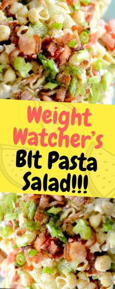 This fun Weight Watcher's BLT Pasta Salad is the perfect side to bring to your next of July gathering. A lighter version of a pasta salad with a spin on the classic BLT sandwich… Ingredients 3 cup large. Weight Watchers Sides, Weight Watchers Pasta, Weight Watchers Lunches, Tabouleh Salat, Quinoa, Blt Pasta Salads, Blt Macaroni Salad, Blt Salad, Pasta Meals