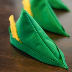 Here's a tutorial for making an easy felt Robin Hood or Peter Pan style felt hat.