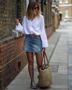 Esses são os 3 itens, que se usados juntos, não tem erro - Jeans Clarinho, acessórios beges ou em cores naturais e camisa branca. A bolsa rústica ( palha/ corda / Juta ), virou febre das fashion girls nesse verão, que as estão usando fora da praia! Copiem!! Tem camisa branca essencial aqui -https://goo.gl/ZeH6RI e de cintos beges aqui -https://goo.gl/mwzCKK