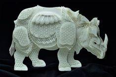 Animales en peligro de extinción hechos con elaborados recortes de papel