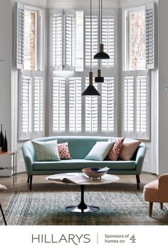 These tier-on-tier shutters have top and bottom panels that open independently, these shutters will flood your living room in natural light and keep your privacy intact. Hm Home, The Great, Design Blogs, Design Ideas, Design Trends, Design Basics, Design Concepts, Design Art, Bristol
