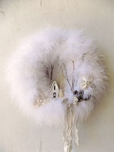 Shabby Chic Christmas Wreath Country Chic by ProvencalMarket
