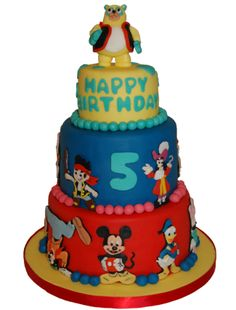 Disney Junior cake. Might do something like this for boys birthday as he likes all of the characters xxx